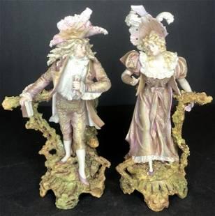 18th cen porcelain couplec1900