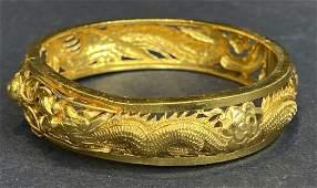 24k Chinese dragon bracelet
