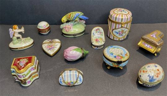 12 dresser boxes some with interior items