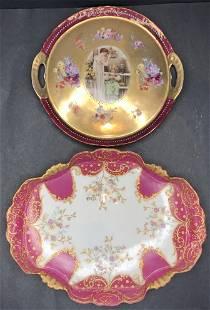 Two European porcelain items