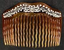 Platinum diamond tortoise comb,c.1900