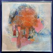Abstract painted collage by Grace Hartigan,1964