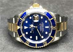 18k and stainless Rolex Submariner oyster perpetual