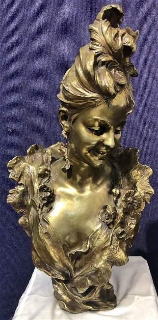Art Nouveau bronze by Victor Léopold Bruyneel,c.1900
