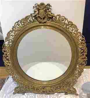 Bronze dresser mirror,c.1880-1920