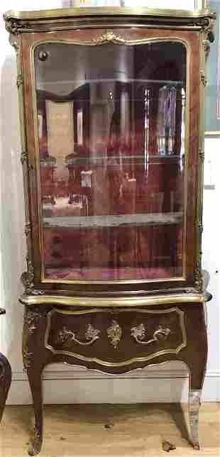 Magnificent mahogany and bronze cabinet,c.1900