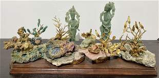 Chinese hardstone carving groups(4)