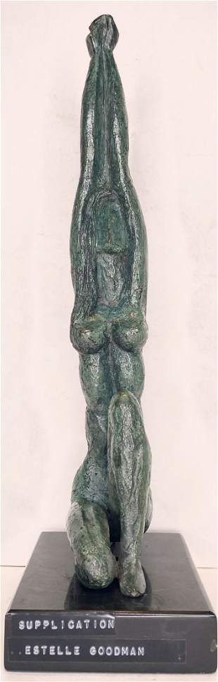 Bronze by Estelle Goodman, Supplication, c1960
