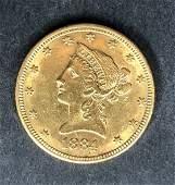 10 dollar American gold coin, 1884, 10.7 dwts