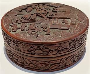 Chinese cinnabar box, 18th/19th century