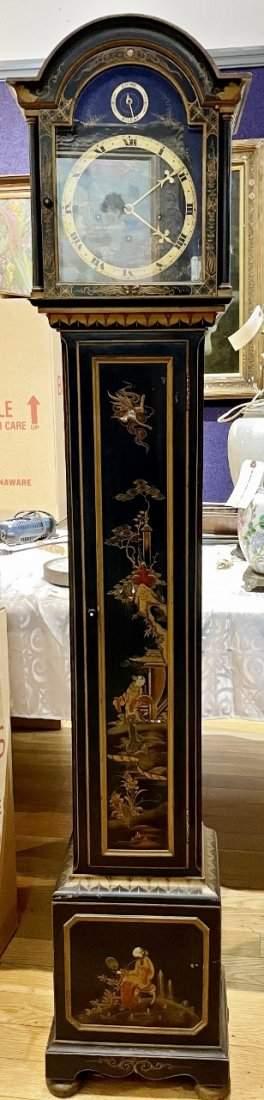 J.E Caldwell Chinoiserie  lacquer tall case clock c1925