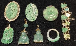 Eight pieces of Chinese jade