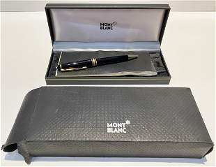 Mont Blanc Meisterstuck gold plated pen in box