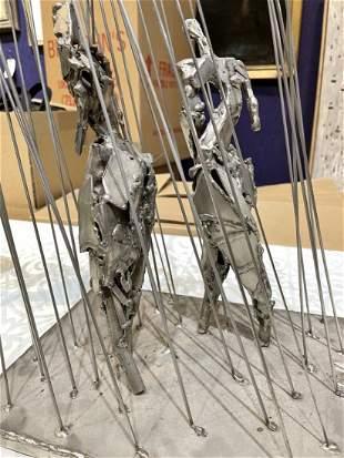Metal sculpture by Postwar Irish sculptor John Coll