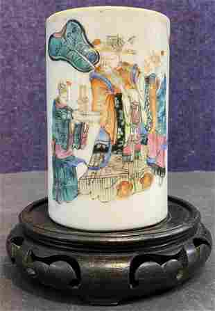 Chinese porcelain cup with figures, c1900