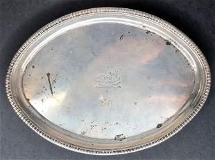 Georgian silver pin tray, 7.72ozt