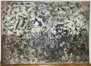 Large Ethel Edwards abstract painting, untitled