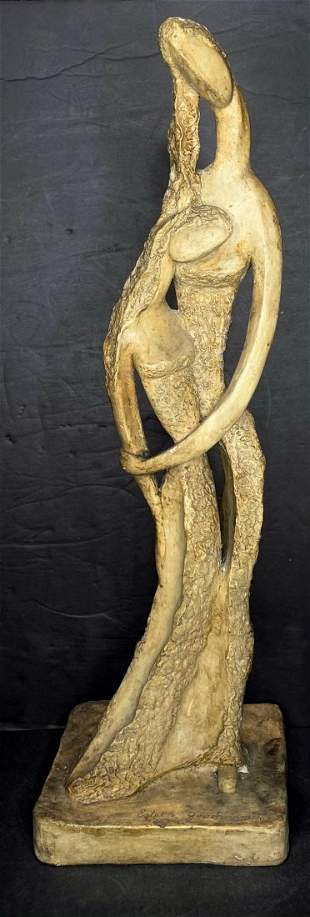Plaster of mother and daughter by Estelle Goodman