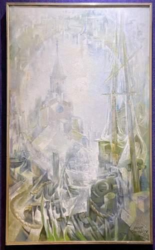 Xavier Gonzalez painting of Winter Sun, Wellfleet 1974