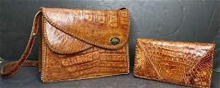 Cuban alligator skin purses