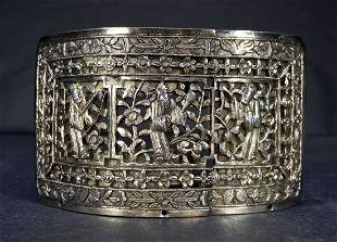 Chinese silver belt buckle, 2.565 ozt