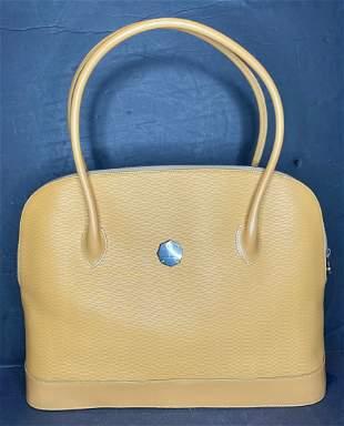 Orange leather shoulder bag by Michael Cromer