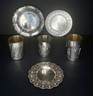 Miscellaneous silver Judaica items, 25.25 ozt