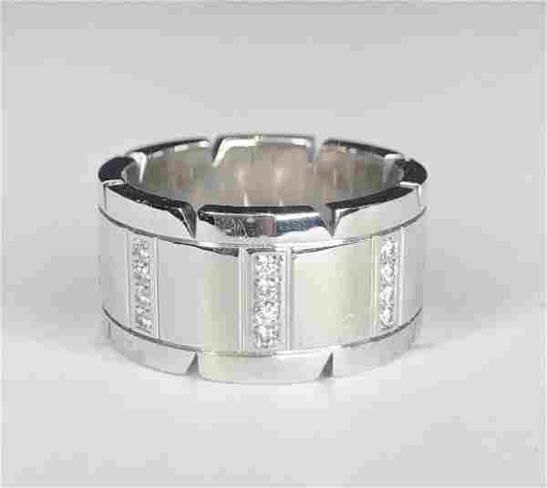 18k Cartier diamond wide band ring, 11.2 dwt