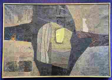 Abstract ptg by Jose Bermudez,1958 (Cuban/American)