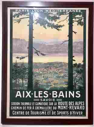 Geo Dorival poster, Aix les Bains, F Champenois