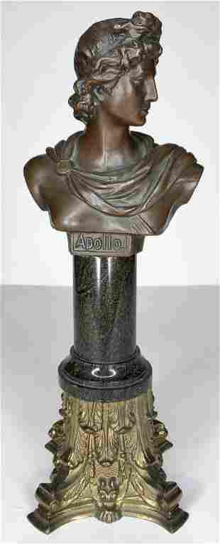Bronze bust of Apollo, c.1900