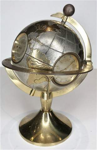 Angelus globe weather desk clock, 4 instruments
