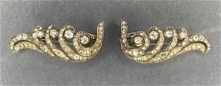 18k pair diamond clips, 13 dwts.CIrca 1890-1910