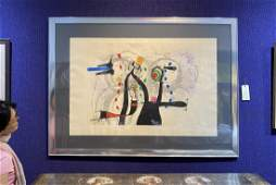 Miro litho Joueur de Bugle, 46 x 31, Soth provenance