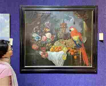 17th/18th cent Flemish painting,Edward Lubin prov