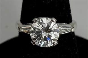 Platinum and diamond ring,1.89ct, E color VS, GIA, 3.2