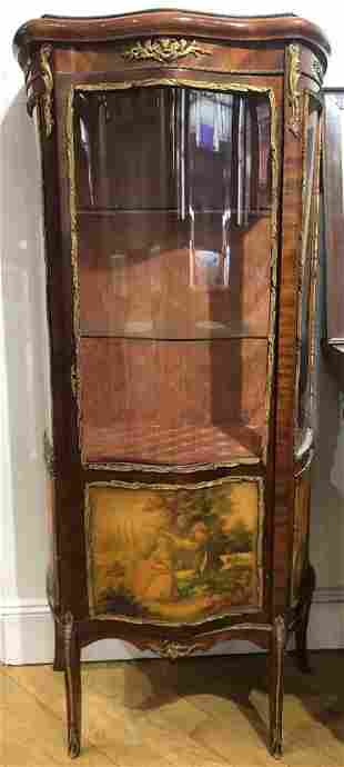 Painted wood curio cabinet, c.1900