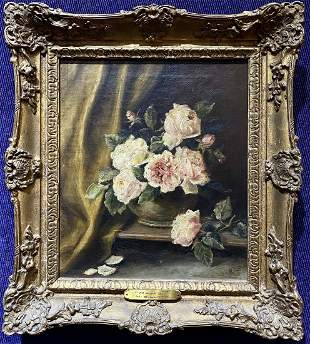 Painting of roses by H. B. Lloyd,c1900