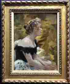 Painting of ballerina by Wasilkowski,c.1910