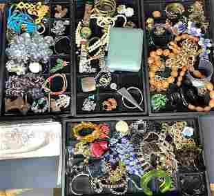 Miscellaneous jewelry in four trays