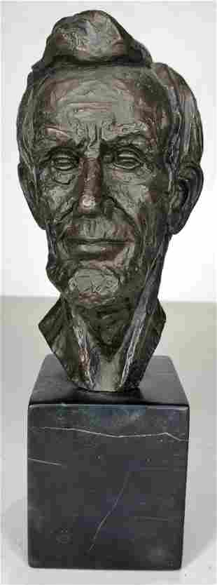 Abraham Lincoln bronze by Leo M. Cherne, c1955