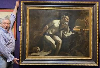 Large Old Master ptg, Jacopo Bassano, St Jerome