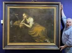 17/18th century painting of Mary Magdelene Penitence
