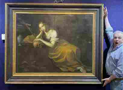 17/18th century painting of Mary Magdelene Penitence