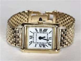 18k Cartier wrist watch