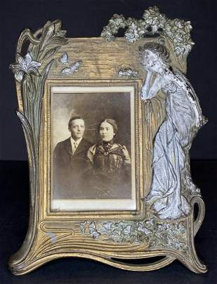 Early photo in Art Nouveau frame