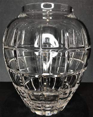 Tiffany & Co crystal vase