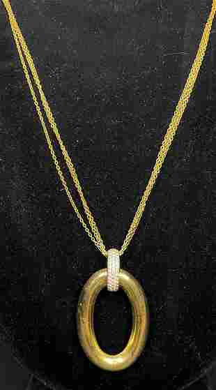 18k diamond triple chain necklace, 7.3 dwts