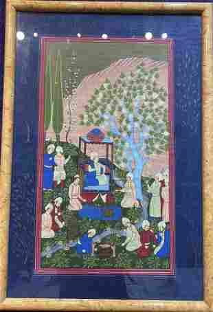 Persian watercolor of Sultan, c1940