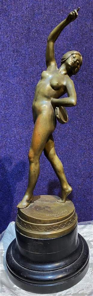 Bronze tambourine dancer,Muller-Crefeld,c.1925